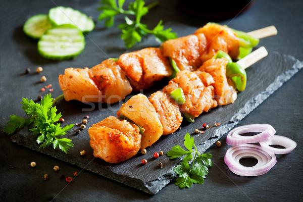 Marynowane kurczaka para surowy pikantny zielone Zdjęcia stock © mpessaris