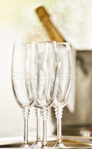 Shinny Glasses of Champagne Stock photo © mpessaris
