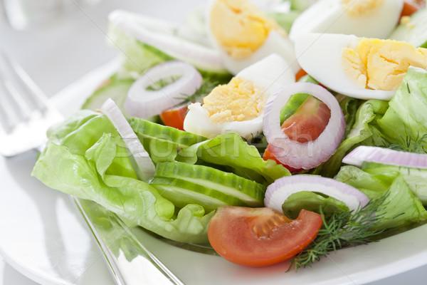 Zdjęcia stock: Jaj · Sałatka · świeże · zdrowych
