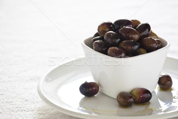 Olives photographie fraîches bol Photo stock © mpessaris