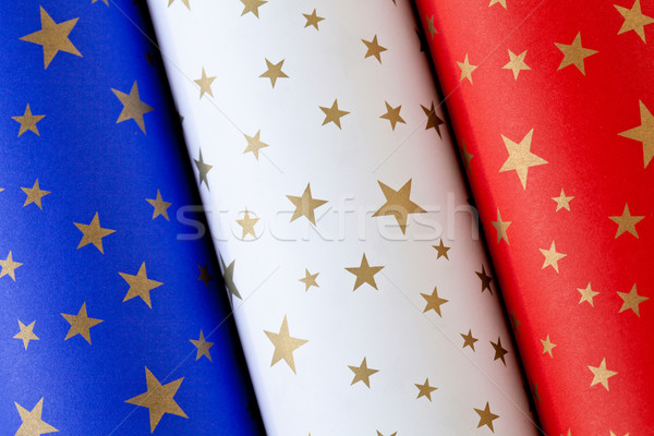 Paper Rolls French Flag Stock photo © mpessaris