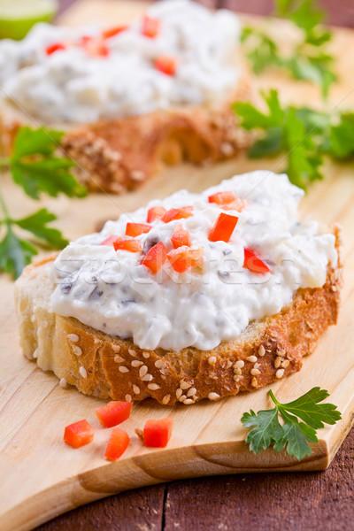 Cream Cheese Bruschetta Stock photo © mpessaris