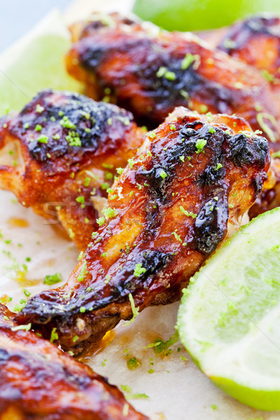 Barbecue Chicken Wings Stock photo © mpessaris