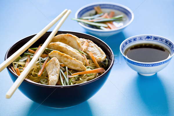 Chicken Chinese Meal Setup Stock photo © mpessaris