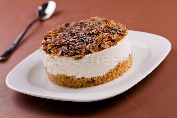 Cioccolato cookies cheesecake fatto in casa nero Foto d'archivio © mpessaris