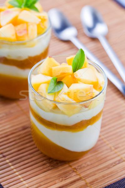 Peach Panna Cotta Stock photo © mpessaris