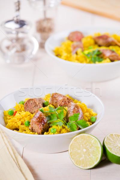 Comida indiana refeição salsichas temperos Foto stock © mpessaris