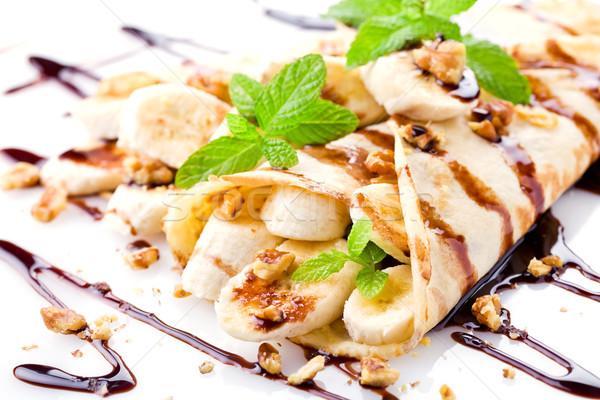 Smakelijk frans banaan eigengemaakt chocolade groene Stockfoto © mpessaris