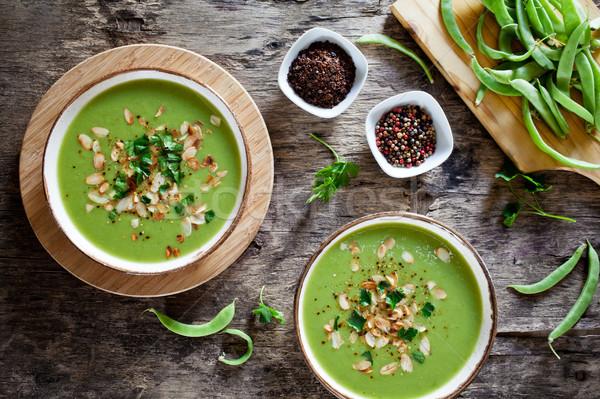 自家製 リーキ スープ カップル ボウル 食品 ストックフォト © mpessaris