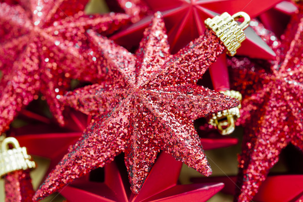 Shinny Red Christmas Stars Stock photo © mpessaris