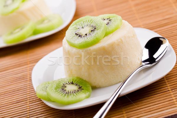 Panna Cotta With Kiwi Fruit Stock photo © mpessaris