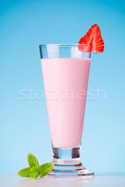 イチゴ ミルクセーキ 写真 新鮮果物 ジュース ストックフォト © mpessaris
