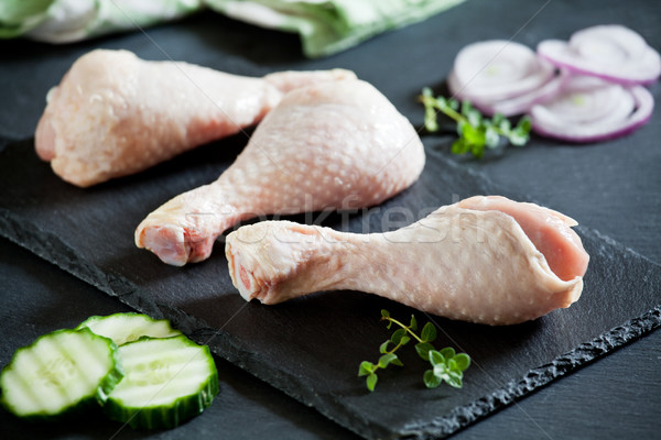 Raw Chicken Legs Stock photo © mpessaris