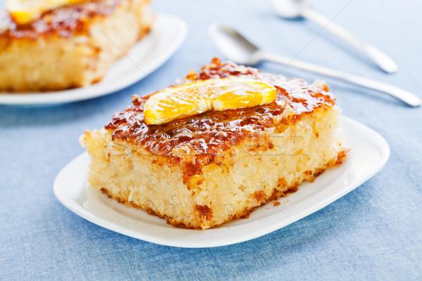 Dilimleri turuncu kek dilim ev yapımı Stok fotoğraf © mpessaris