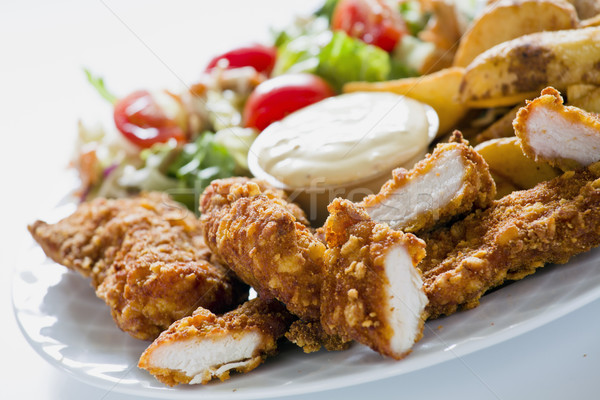 Kurczaka kraju ziemniaki smaczny Zdjęcia stock © mpessaris