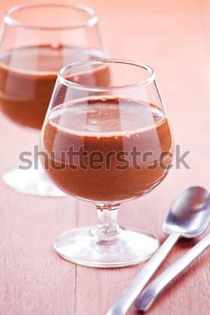 Mały mus czekoladowy kubek Zdjęcia stock © mpessaris