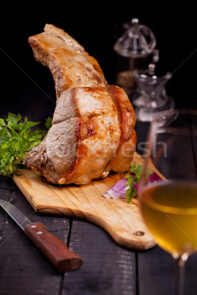 стойку свинина фотография чабер продовольствие обеда Сток-фото © mpessaris