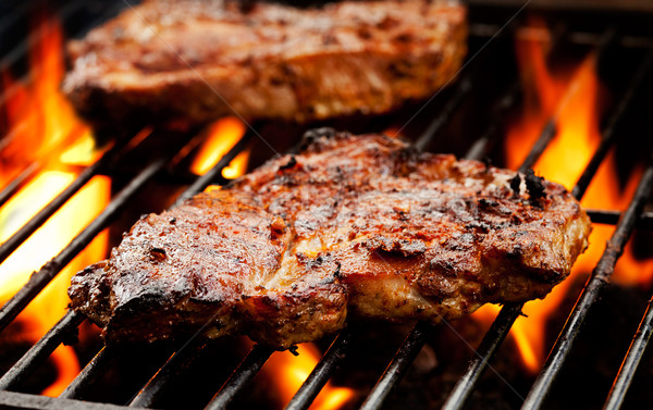 Pork Chops On The Barbecue Stock photo © mpessaris