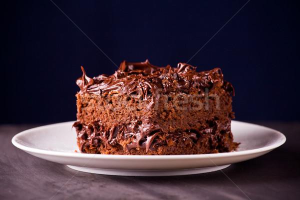 Piece Of Chocolate Fudge Stock photo © mpessaris