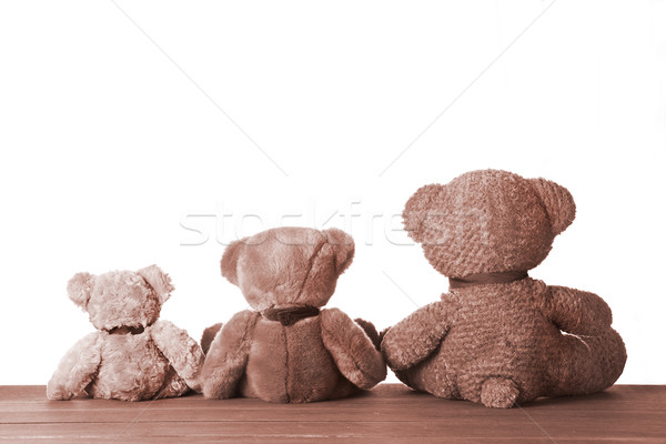 Tre società fotografia cute orsacchiotto Foto d'archivio © mpessaris