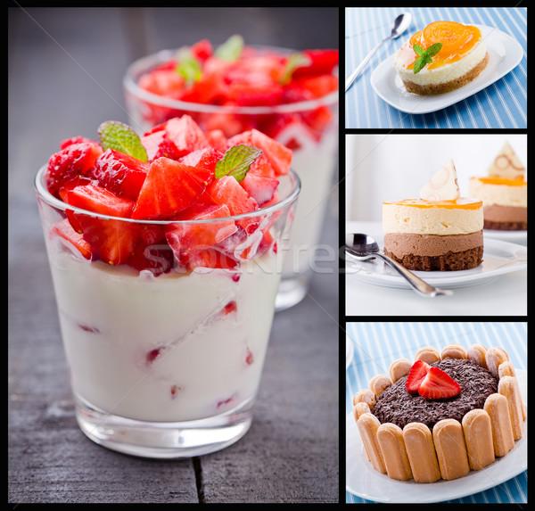 Dessert Collage Stock photo © mpessaris