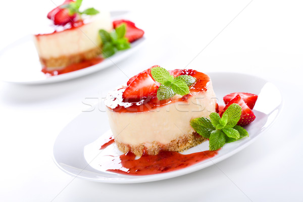 Strawberry Cheesecakes Stock photo © mpessaris