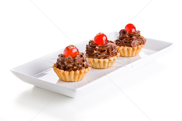 Tiny Chocolate Pies Stock photo © mpessaris