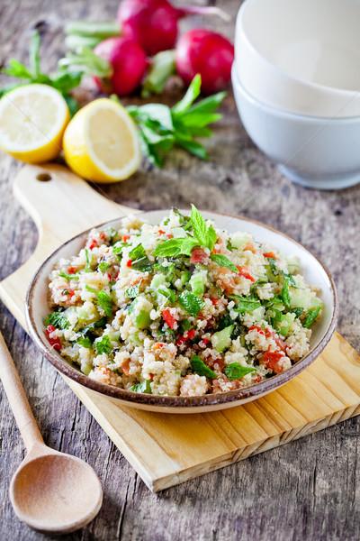 Homemade Refreshing Quinoa And Vegetables Salad Stock photo © mpessaris