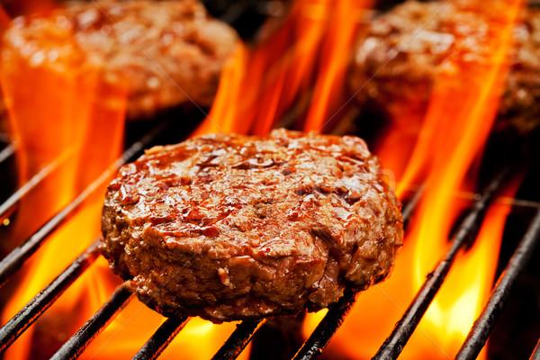 Сток-фото: барбекю · три · оранжевый · обеда · красный
