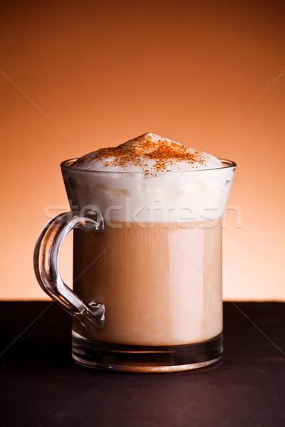 Cappuccino tasse chaud café alimentaire Photo stock © mpessaris