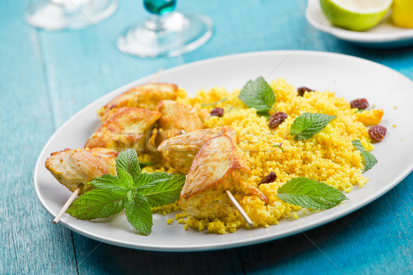 Chicken And Couscous Stock photo © mpessaris