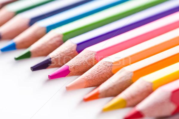 ストックフォト: 色 · 木製 · 鉛筆 · 木材