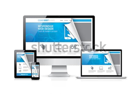 Css, html, php responsive web design concept vector Stock photo © MPFphotography