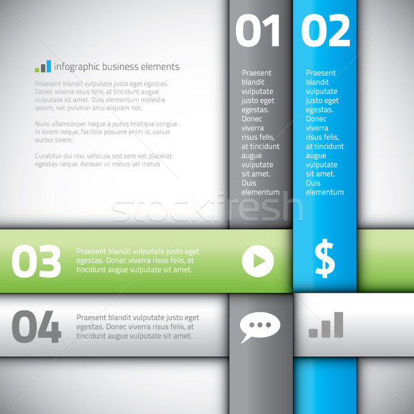 Modern line business infographics options banner vector eps. Stock photo © MPFphotography