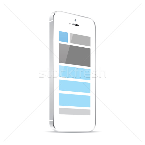 Responsive web design in white smart phone vector eps Stock photo © MPFphotography
