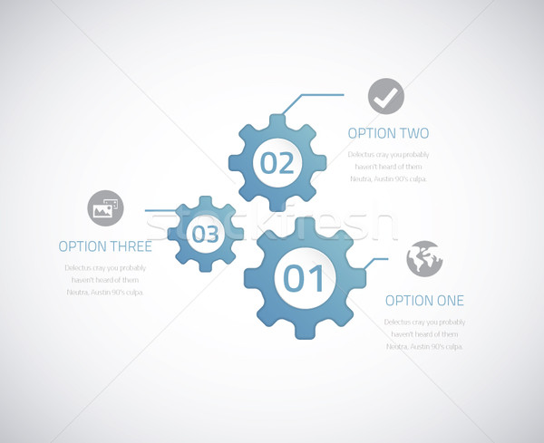 Infographic technology gears with options. Eps10 vector. Stock photo © MPFphotography