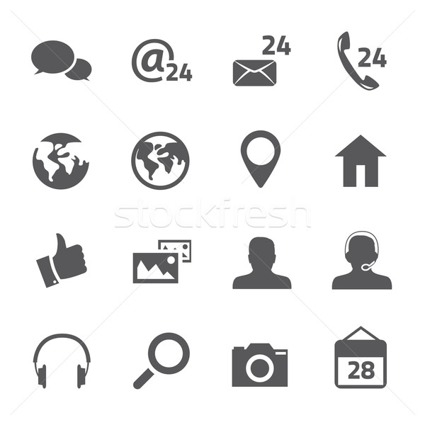 16 social media verbinding vector business Stockfoto © MPFphotography