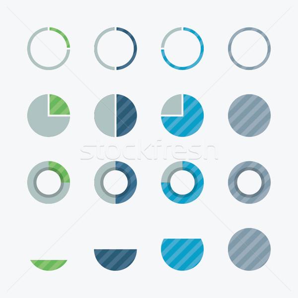 Nuttig cirkeldiagram procent vector ontwerp communie Stockfoto © MPFphotography