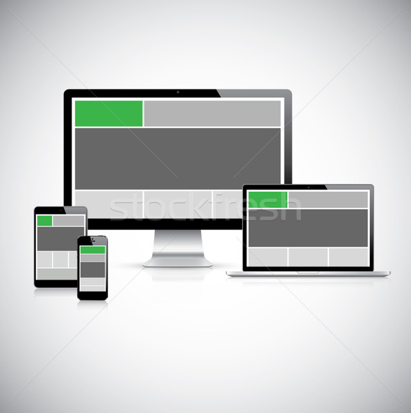 Highly detailed responsive web design concept vector Stock photo © MPFphotography