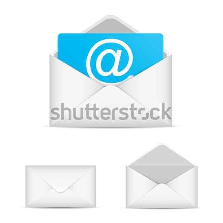 E-mail ingesteld vector icon eps10 papier Stockfoto © MPFphotography