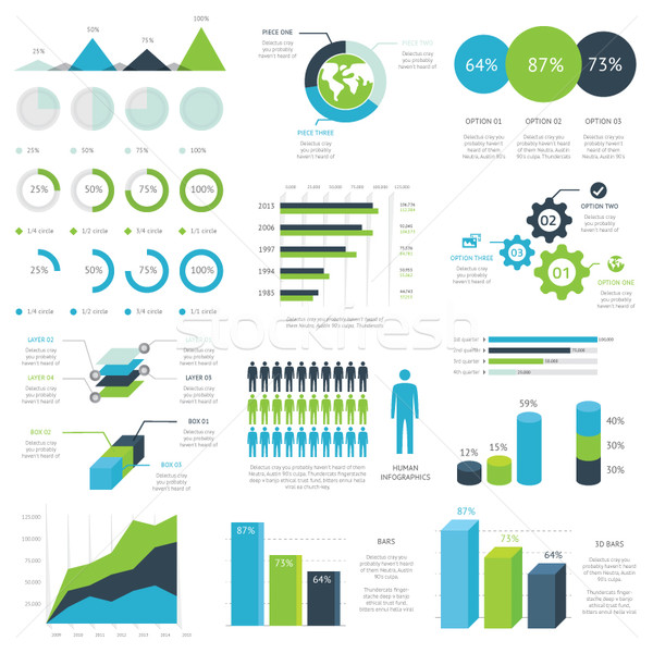 Web infographic elements vector Stock photo © MPFphotography