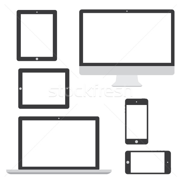 Computer tablet laptop phone logo isolation vector eps10 Stock photo © MPFphotography