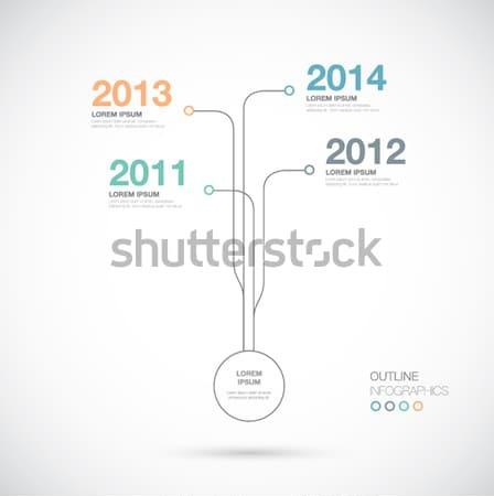 Skicc infografika idővonal innováció vektor üzlet Stock fotó © MPFphotography