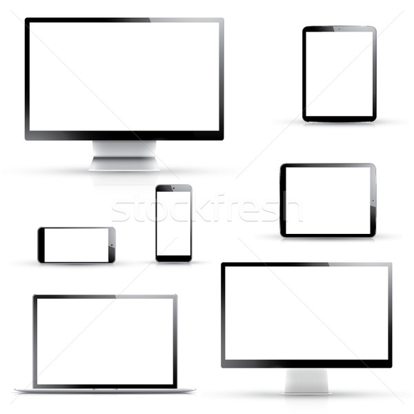 Electronic vector devices isolated on white background Stock photo © MPFphotography