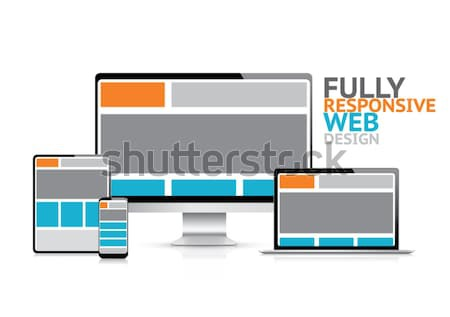 Modern responsive web design coding concept in computer vector Stock photo © MPFphotography