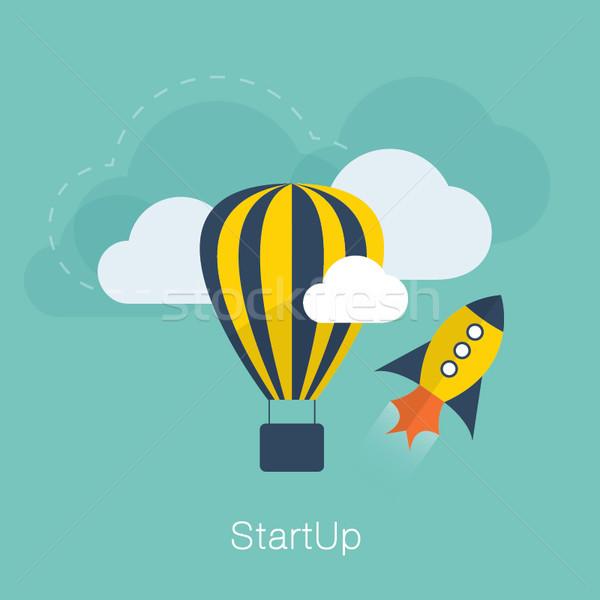 Nowego projektu startup wektora cool kolory Zdjęcia stock © MPFphotography