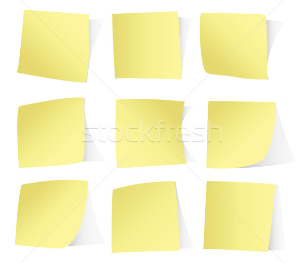 Yellow stickers isolated on white background vector eps10 Stock photo © MPFphotography