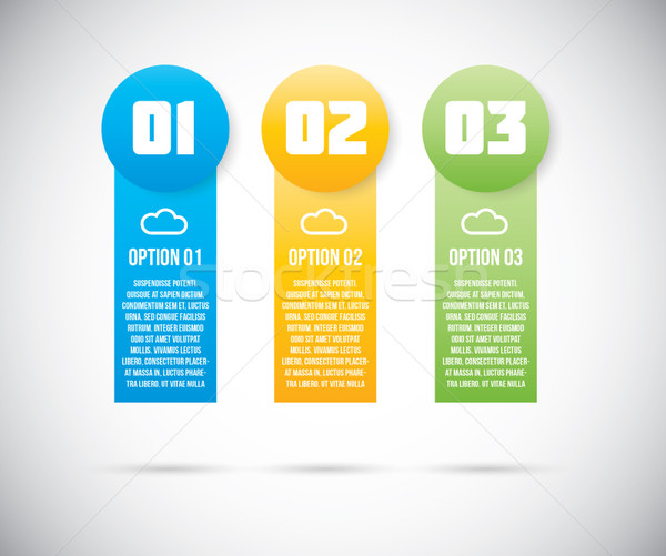 Three infographic option templates vector eps10 Stock photo © MPFphotography