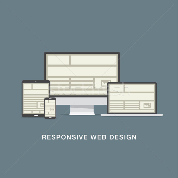 Sensible diseno web red iconos vector negocios Foto stock © MPFphotography