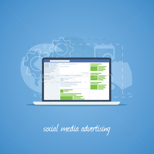 Publicidade teia site negócio internet Foto stock © MPFphotography